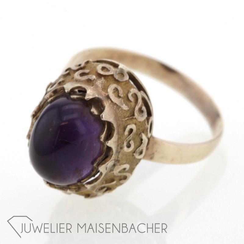 antik ring mit amethyst perlen jetzt online kaufen. Black Bedroom Furniture Sets. Home Design Ideas