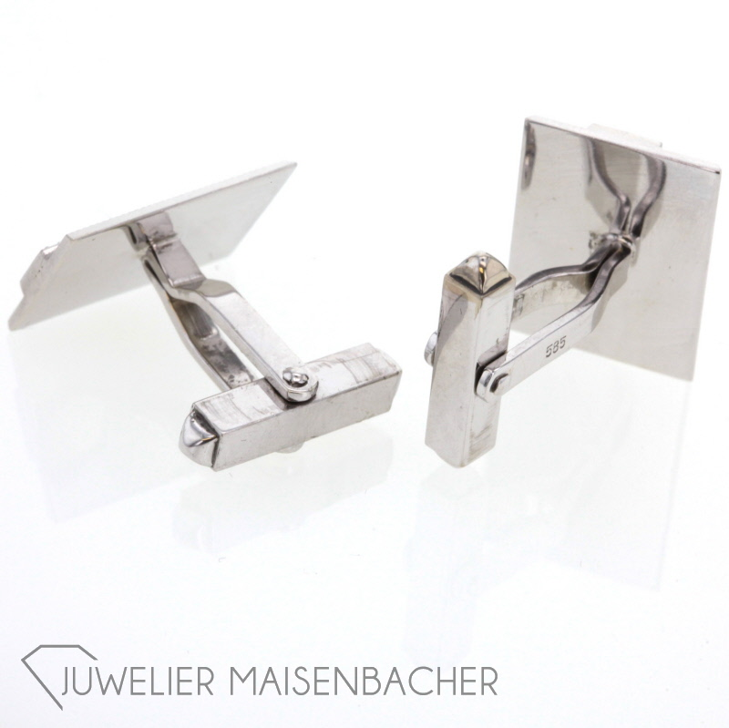 manschettenkn pfe 6 diamanten wei gold jetzt online kaufen. Black Bedroom Furniture Sets. Home Design Ideas