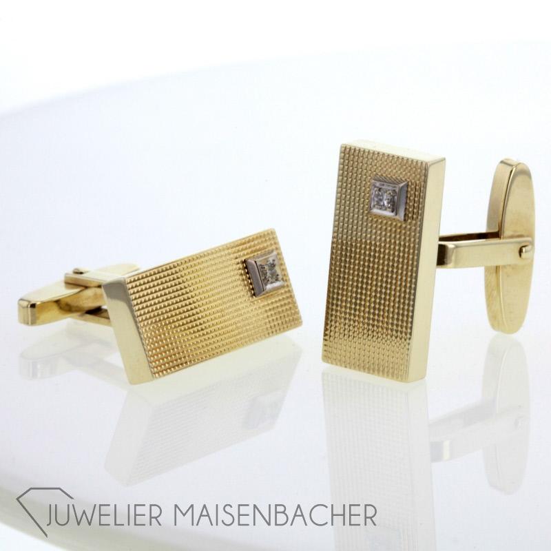 manschettenkn pfe strukturiert gold diamanten jetzt online kaufen. Black Bedroom Furniture Sets. Home Design Ideas