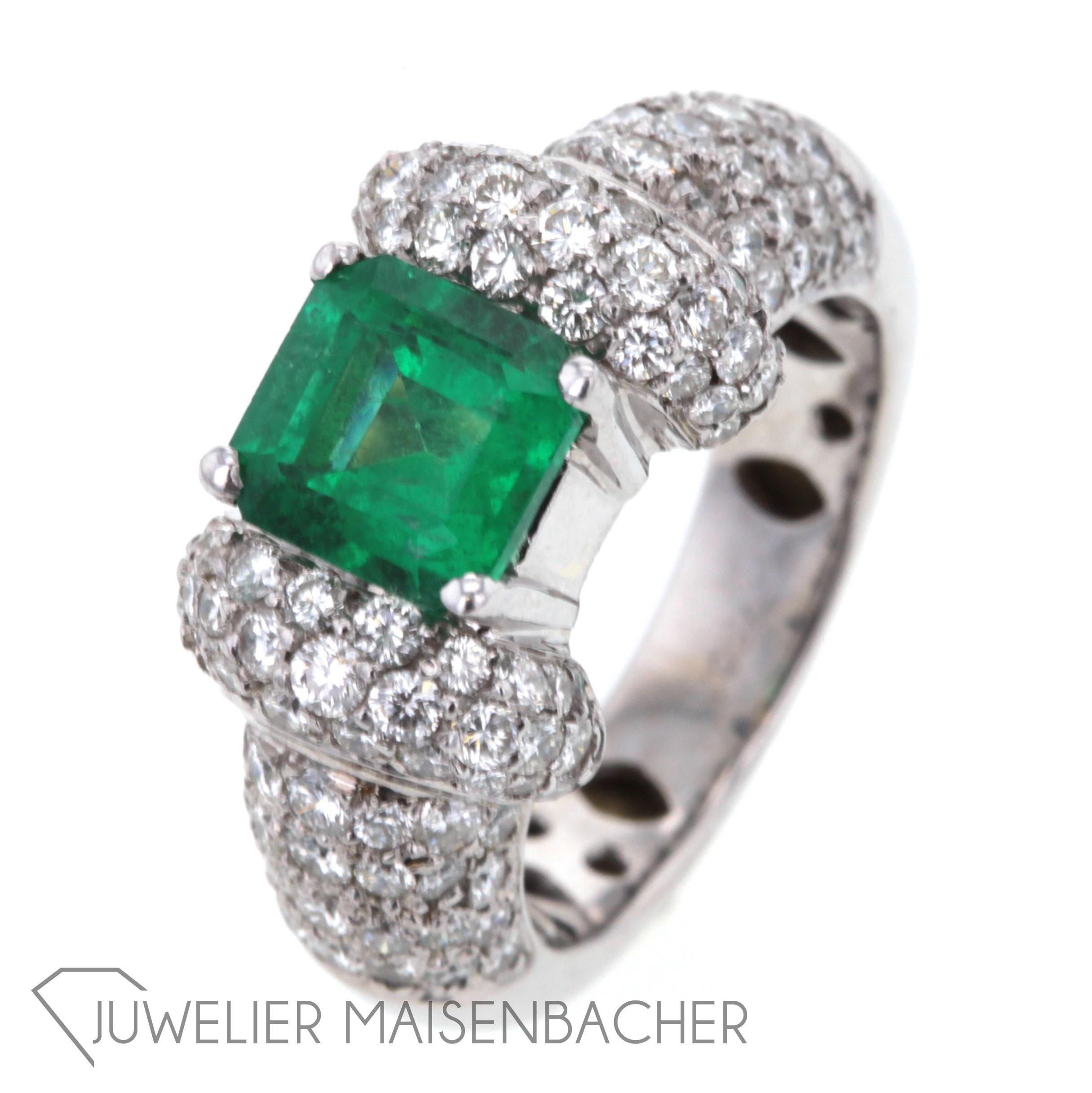 Smaragd Ring Mit Brillanten Jetzt Online Kaufen